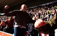 Photo: Alan Crowhurst.<br />Southampton v Cardiff City. Coca Cola Championship. 01/04/2006. Cardiff fans celebrate.
