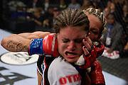 Cris Cyborg punches Gina Carano<br /> FORZA/ZUFFA