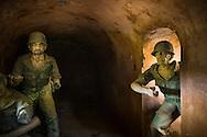 Bunker diorama on Hill A1 'Eliane 2,' Dien Bien Phu, Muong Thanh Valley, Dien Bien Province, Vietnam, Southeast Asia