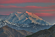 A midnight sunset strikes Denali. Taken on one of the most spectacular backpacking trips I've ever had which plunged into the trailless backcountry of Alaska.