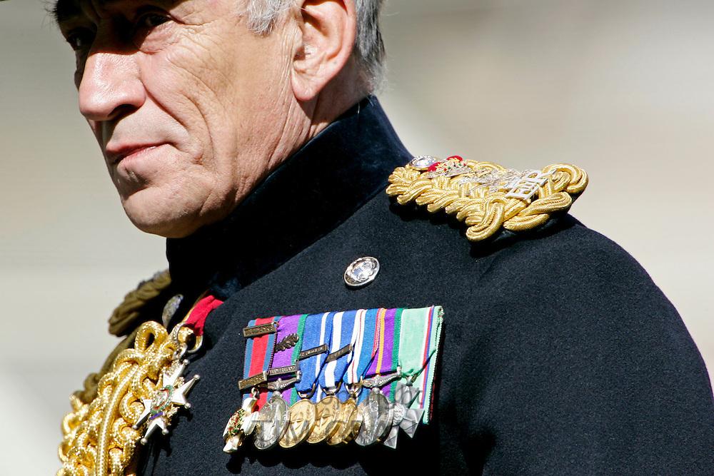 General Sir Michael Jackson at Passing Out graduation parade at Sandhurst Military Academy, Sandhurst, Surrey