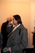 MARC NEWSON, 'Engagement' exhibition of work by Jennifer Rubell. Stephen Friedman Gallery. London. 7 February 2011. -DO NOT ARCHIVE-© Copyright Photograph by Dafydd Jones. 248 Clapham Rd. London SW9 0PZ. Tel 0207 820 0771. www.dafjones.com.
