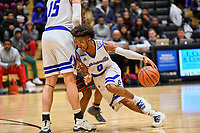 Nolensville Knights Zachary Campbell (0)  during the Nolensville Knights vs East Nashville Sub-State basketball playoff game at Nolensville High Monday, March 4, 2019.  The Knights ended the season with a 71-56 loss.<br /> Photo Harrison McClary/News & Observer