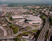 """Ackroyd C08854-6. """"Rose Garden Arena. stock."""" (East waterfront at Steel Bridge) """"October 5, 1995"""""""