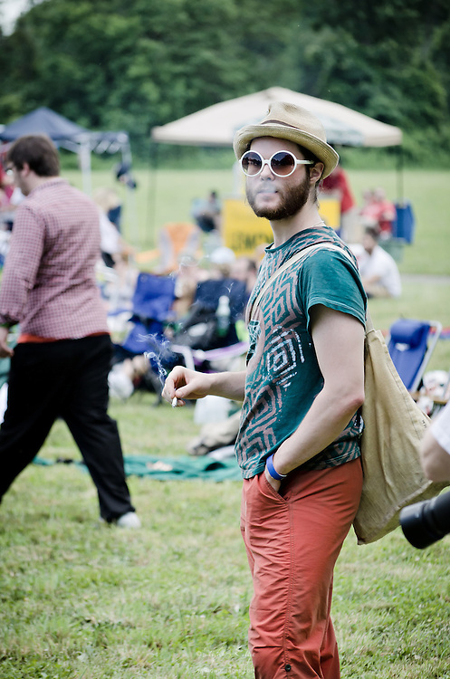 One of many festival attendees at the 2011 Appel Farm Arts & Music Festival in Elmer, NJ.