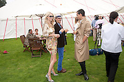 POLLY DELEVIGNE; MATTHEW WILLIAMSON; JAMES KELLY, Cartier International Polo Day at the Guards Polo Club. Windsor. July 26  2009