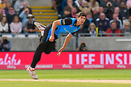 Pat Brown of Worchestershire bowling during the Vitality T20 Finals Day Semi Final 2018 match between Worcestershire Rapids and Lancashire Lightning at Edgbaston, Birmingham, United Kingdom on 15 September 2018.