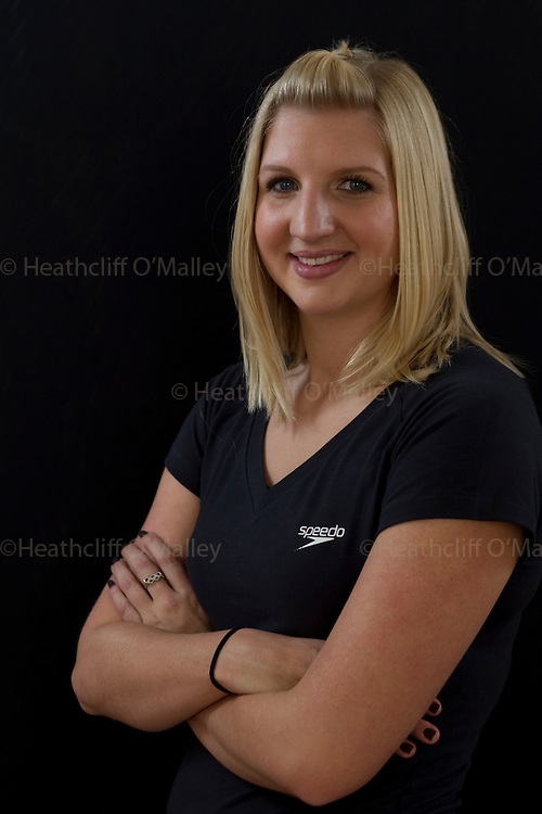Mcc0026393 . Daily Telegraph..Sport..Swimmer Becky Adlington, who recently won two gold medals at the Commonwealth games, photographed on her return to England...London 13 October 2010