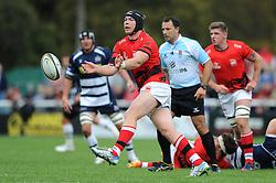 London Welsh Number 8 Kieran Murphy - Mandatory byline: Dougie Allward/JMP - 07966 386802 - 13/09/2015 - RUGBY UNION - Old Deer Park - Richmond, London, England - London Welsh v Bristol Rugby - Greene King IPA Championship.
