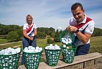 Bergschenhoek - Marco en Miranda op de Hooge Rotterdamsche. Verhaal 'Wie maakte mij golfgek' COPYRIGHT  KOEN SUYK