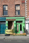 The Tea Garden shisha bar along Ormond Quay Lower on 2nd April 2017 in Dublin, Republic of Ireland. An alternative hangout and great place to buy tea in many flavours. Dublin is the largest city and capital of the Republic of Ireland, it's on Ireland's east coast at the mouth of the River Liffey.