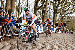 Elena Cecchini has the top of the Kemmelberg in her sights - Women's Gent Wevelgem 2016, a 115km UCI Women's WorldTour road race from Ieper to Wevelgem, on March 27th, 2016 in Flanders, Belgium.
