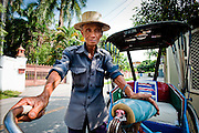 Perhaps the oldest rickshaw driver in Chiang Mai. Weighing in at approx 50kg and with dubious map reading abilities. A character nonetheless...