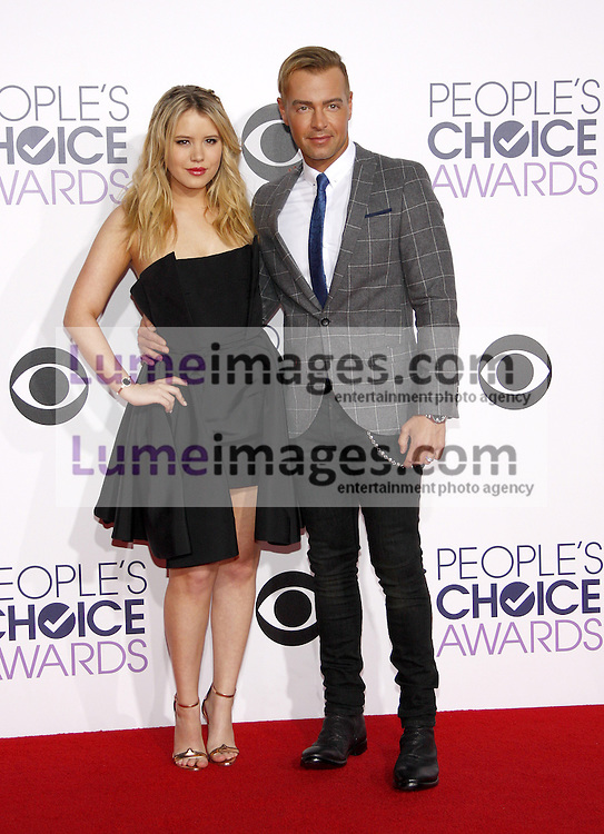 Taylor Spreitler and Joey Lawrence at the 41st Annual People's Choice Awards held at the Nokia L.A. Live Theatre in Los Angeles on January 7, 2015. Credit: Lumeimages.com