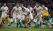 Twickenham, United Kingdom. England get plently of players behand the ballcarrier, Kyle SICKLER, during the Old Mutual Wealth Series Rest Match: England vs Australia, at the RFU Stadium, Twickenham, England, <br /> <br /> Saturday  03/12/2016<br /> <br /> [Mandatory Credit; Peter Spurrier/Intersport-images]