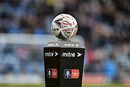 Match football mitre fa cup during the The FA Cup fourth round match between Portsmouth and Queens Park Rangers at Fratton Park, Portsmouth, England on 26 January 2019.