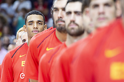 September 17, 2018 - Madrid, Spain - Sebas Saiz of Spain during the FIBA Basketball World Cup Qualifier match Spain against Latvia at Wizink Center in Madrid, Spain. September 17, 2018. (Credit Image: © Coolmedia/NurPhoto/ZUMA Press)