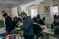The lunch room at the Karitas centre in central Athens, Grecce. Meals are provided free of charge to those who need.