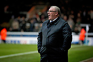 Peterborough United manager Steve Evans shouting orders   during  the The FA Cup 2nd round match between Peterborough United and Bradford City at London Road, Peterborough, England on 1 December 2018.