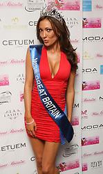 Miss Great Britain 2009 Sophie Gradon arrives at the Miss Great Britain party, at the Red Room, at Les Ambassadeurs, Mayfair, central London.