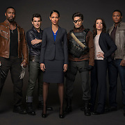 """Arrow -- """"Suicide Squad"""" -- Image AR216a_SuicideSquad_0276 -- Pictured: Michael Jai White as Ben Turner (""""Bronze Tiger""""), Sean Maher as Mark Scheffer (""""Shrapnel""""), Cynthia Addai-Robinson as Amanda Waller, Michael Rowe as Floyd Lawton (""""Deadshot""""), Audrey Marie Anderson as Lyla Michaels, and David Ramsey as John Diggle -- Photo: Cate Cameron/The CW -- © 2014 The CW Network, LLC. All Rights Reserved"""