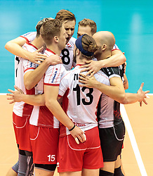 09.06.2017, TipsArena, Linz, AUT, FIVB, World League, Österreich vs Deutschland, Division III, Gruppe C, Herren, im Bild Jubel Österreich // Jubel Österreich during the men's FIVB, Volleyball World League, Division III, Group C match between Austria and Germany at the TipsArena in Linz, Austria on 2017/06/09. EXPA Pictures © 2017, PhotoCredit: EXPA/ JFK