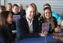The Duke of Cambridge during a SportsAid event at the Copper Box in the Olympic Park, London.