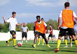 Aston Villa's Micah Richards chases the ball in training  - Photo mandatory by-line: Joe Meredith/JMP - Mobile: 07966 386802 - 17/07/2015 - SPORT - Football - Albufeira - Estadio Da Nora - Pre-Season Friendly