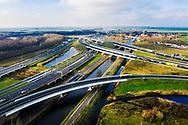 Nederland, Muiden,  20181213<br /> Luchtfoto omgeving Muiden. Verkeersknooppunt Muiderberg. <br /> <br /> Foto (c) Michiel Wijnbergh