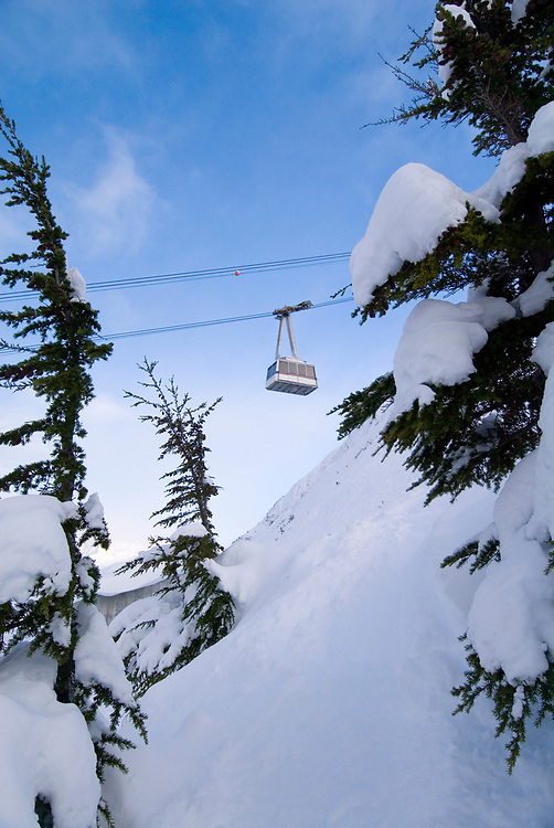 Alaska. Girdwood. The Hotel Alyeska and the Alyeska Ski Resort providing excellent skiing in the Chugach National Forest, bordering on Turnagain Arm. The aerial Tramway takes visitors to the top of the ski area in four minutes time.