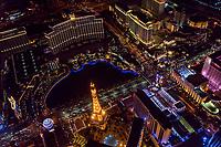 Bellagio Hotel Fountain Pool & Paris Eiffel Tower Replica, Las Vegas Boulevard