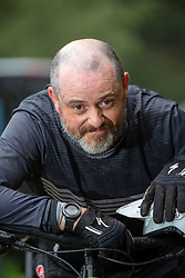 26AUG20 Graham Mann at Glentress Mountain Bike Centre for an article about the lockdown-linked upsurge in cycling and related matters like bike theft and the use of electric bikes.