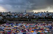 Rot Fai Market at dusk, Bangkok