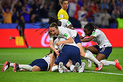 France's Gaetane Thiney celebrates with teammates during FIFA Women's World Cup France group A match France v Brazil on June 23, 2019 in Le Havre, France. France won 2-1 after extra time reaching quarter-finals. Photo by Christian Liewig/ABACAPRESS.COM