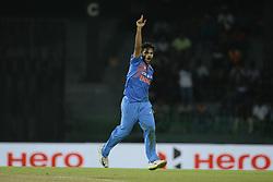 March 14, 2018 - Colombo, Sri Lanka - Indian  cricketer Shardul Thakur celebrates during the 5th Twenty-20 cricket match of NIDAHAS Trophy between Bangladesh and India at R Premadasa cricket ground, Colombo, Sri Lanka on Wednesday 14 March 2018. (Credit Image: © Tharaka Basnayaka/NurPhoto via ZUMA Press)