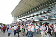 29/07/2014 Huge crowds at the Tuesday evening meeting of the Galway Summer racing Festival. Photo: Andrew Downes