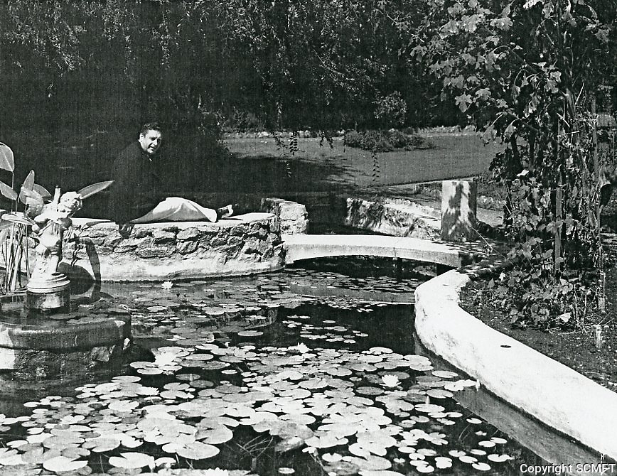 1930s John McCormack at his home in Runyon Canyon, in the Hollywood Hills.