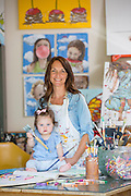 Portrait of Morgan with her family in North Little Rock, Arkansas, for Savvy Magazine.<br /> <br /> Photo by Beth Hall