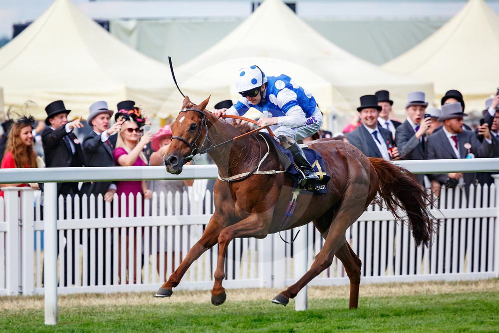 Oriental Fox (J. Fanning) wins The Queen Alexandra Stakes, Royal Ascot 24/06/2017, photo: Zuzanna Lupa / Racingfotos.com