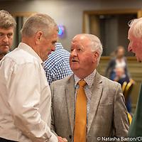 Joe Cooney greeting Gabriel Keating