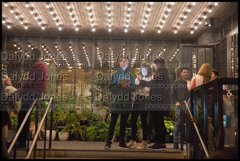 VIEW ENTRANCE  ACE HOTEL, Frieze party, ACE hotel Shoreditch. London. 18 October 2014