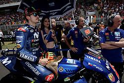 June 17, 2018 - Barcelona, Catalonia, Spain - Maverick Viales (25) of Spain and Movistar Yamaha MotoGP during the race day of the Gran Premi Monster Energy de Catalunya, Circuit of Catalunya, Montmelo, Spain. 17th June of 2018. (Credit Image: © Jose Breton/NurPhoto via ZUMA Press)