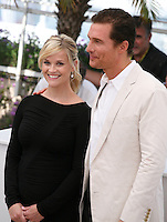 Actor Matthew McConaughey and actress Reese Witherspoon at the Mud photocall at the 65th Cannes Film Festival France. Saturday 26th May 2012 in Cannes Film Festival, France.