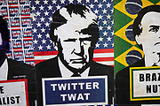 Highly politicised virus street art of Donald Trump in Shoreditch as lockdown continues and people observe the stay at home message in the capital on 12th May 2020 in London, England, United Kingdom. Coronavirus or Covid-19 is a new respiratory illness that has not previously been seen in humans. While much or Europe has been placed into lockdown, the UK government has now announced a slight relaxation of the stringent rules as part of their long term strategy, and in particular social distancing.