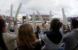 01-06-2012 VOLLEYBAL: EK BEACHVOLLEYBAL: SCHEVENINGEN<br /> Beach support publiek vermaken zich uitstekend<br /> ©2012-FotoHoogendoorn.nl