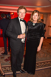 The Hon.Peter Stanley and his wife Frances at The Cartier Racing Awards 2018 held at The Dorchester, Park Lane, England. 13 November 2018. <br /> <br /> ***For fees please contact us prior to publication***