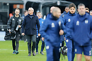 Fulham manager Claudio Ranieri coming on the pitch before The FA Cup 3rd round match between Fulham and Oldham Athletic at Craven Cottage, London, England on 6 January 2019.