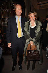 MR & MRS JAMES PALMER-TOMKINSON at a party to celebrate the publication of Inheritance by Tara Palmer-Tomkinson at Asprey, 167 New Bond Street, London on 28th September 2010.