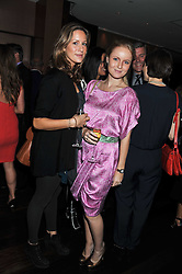 Left to right, FRANCESCA RODRIQUEZ and RASHA SAID at a party to relaunch the Met Bar at 19 Old Park Lane, London W1 on 5th October 2011.