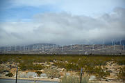 General overall view of the Tehachapi Pass wind farm in Mojave, Calif, Monday, Feb 15, 2021.(Dylan Stewart/Image of Sport)